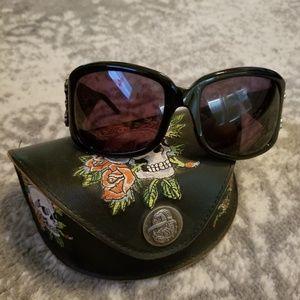 Ed Hardy Skull & Rose's Sunglasses